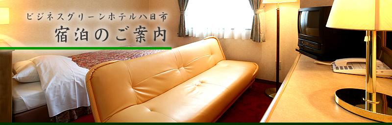 ビジネスグリーンホテル八日市:宿泊のご案内